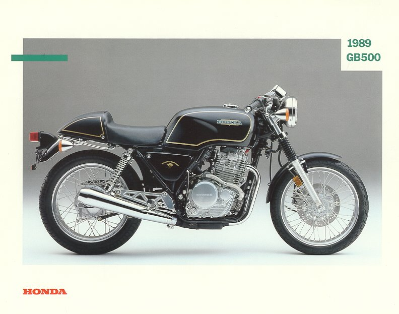 Honda GB 500 Clubman Brochures, PR Stuff and No. 1 Cult bike